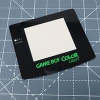 Game Boy Color Light - Lime Candy logo - Glass